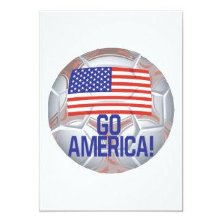 Go America 5x7 Paper Invitation Card