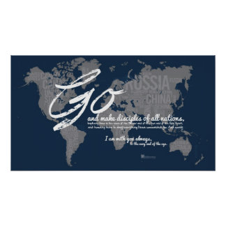 Go and make disciples of all nations poster