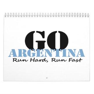 Go Argentina Run Fast Wall Calendar