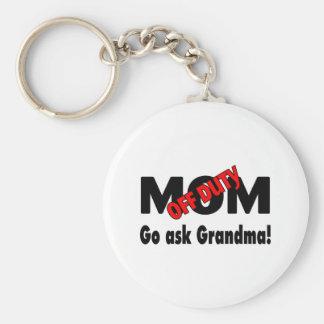 Go Ask Grandma (Off Duty Mom) Keychains