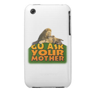 """""""Go Ask Your Mother"""" iPhone 3 Case"""