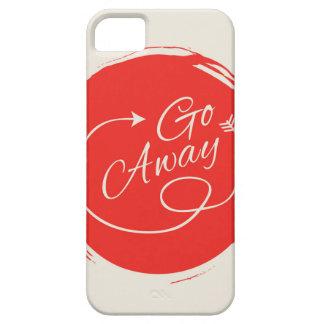Go Away Funny Typography Modern Arrow Minimalist iPhone 5 Covers