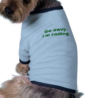 Go Away Im Coding Dog T Shirt