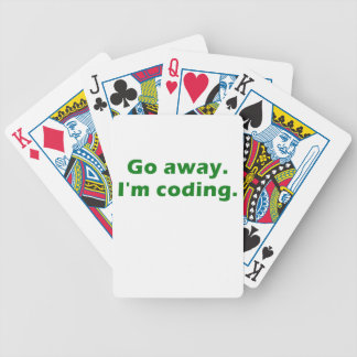 Go Away Im Coding Playing Cards
