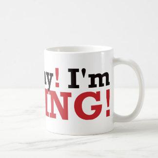 Go Away! I'm Fishing! - Red Coffee Mug