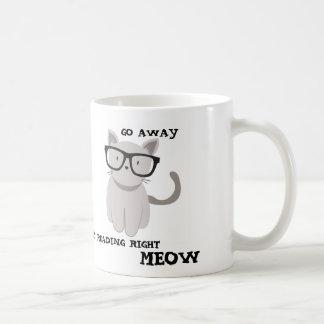 GO AWAY I'M READING RIGHT MEOW CLASSIC WHITE COFFEE MUG