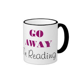 Go Away, I'm reading Ringer Mug