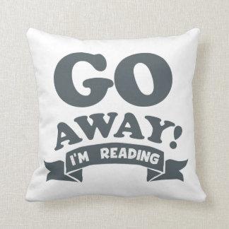 Go Away! I'm Reading Silent Warning Throw Pillow