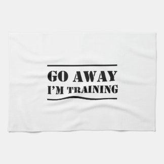 Go Away I'm Training Towel