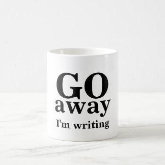 GO, away, I'm writing Classic White Coffee Mug
