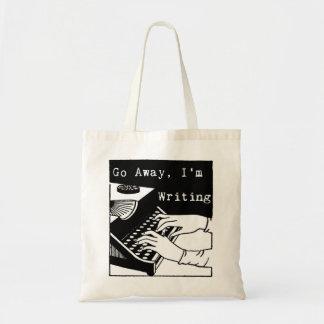 Go away I'm writing typewriter Tote Bag