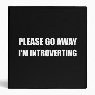 Go Away Introverting Binder