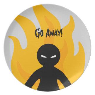 Go Away! Plate