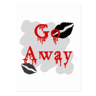 go away postcard