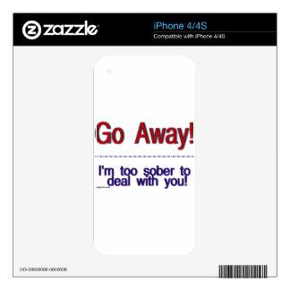 go away iPhone 4S skins