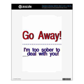 go away decal for the NOOK