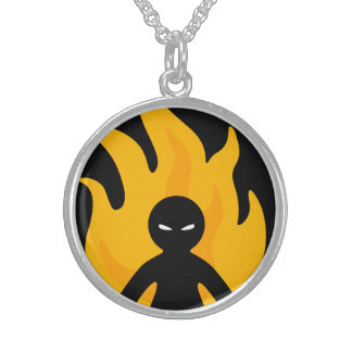Go Away! Sterling Silver Necklace