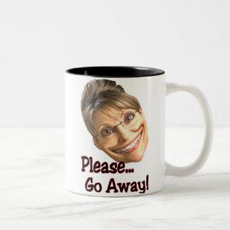 go away Two-Tone coffee mug