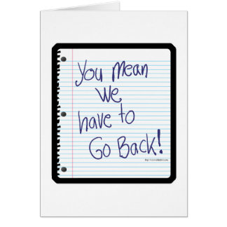 Go Back to School Card