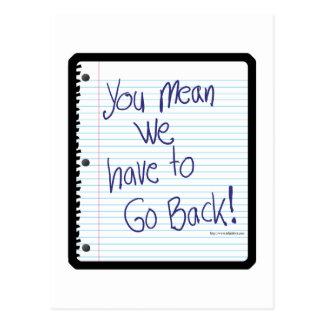 Go Back to School Postcard