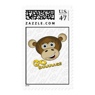 Go Bananas Cheeky Monkey Postage Stamp