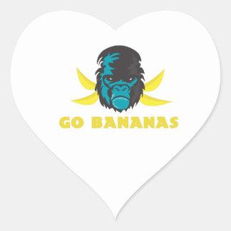 Go Bananas Heart Sticker