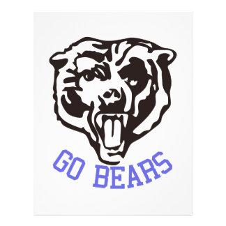 Go, Bears! Letterhead