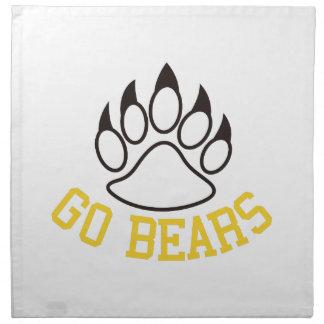 Go Bears Napkin