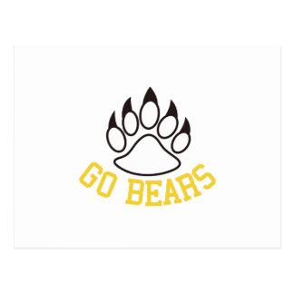 Go Bears Postcard