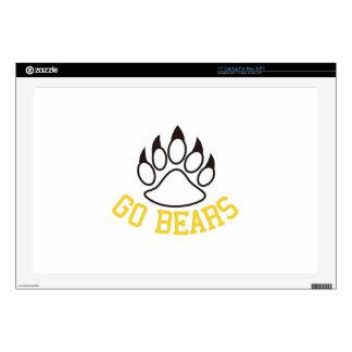 """Go Bears Skin For 17"""" Laptop"""