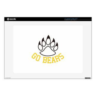 "Go Bears 15"" Laptop Skin"