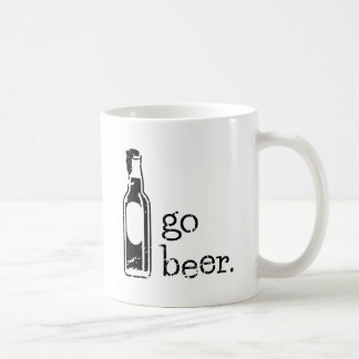 Go Beer with Beer Bottle: Any Team Colors Coffee Mug