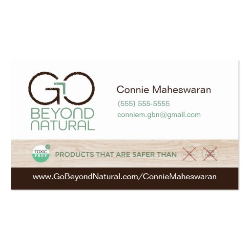 Go beyond natural business cards zazzle for Go business cards