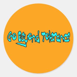 Go Beyond Tolerance Set of 20 Stickers