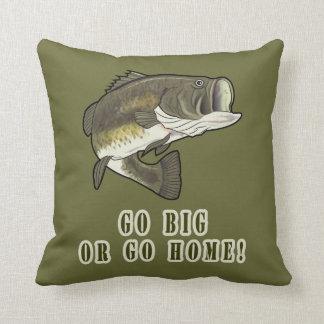 Go Big or Go Home: Largemouth Bass Throw Pillow