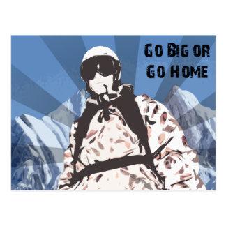 Go Big or Go Home Postcard