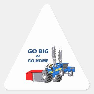 GO BIG OR GO HOME TRIANGLE STICKERS