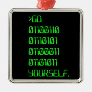Go Binary Curse Word Yourself Ornament