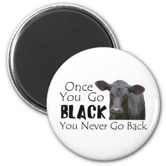 Go Black Angus 2 Inch Round Magnet