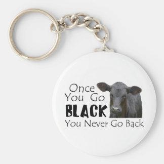 Go Black Angus Keychain