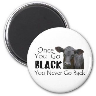 Go Black Angus Magnet