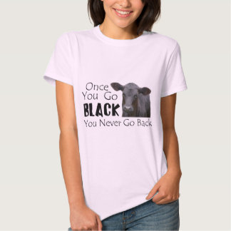Go Black Angus Tee Shirts