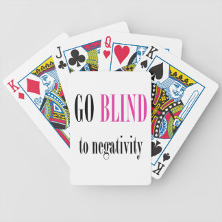 Go Blind Pink Bicycle Playing Cards