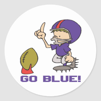 Go Blue Classic Round Sticker