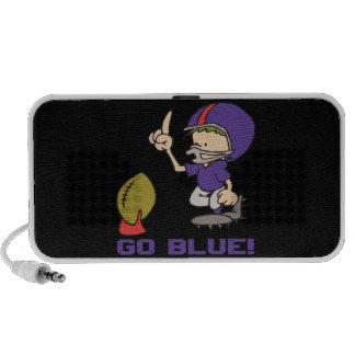 Go Blue Laptop Speaker