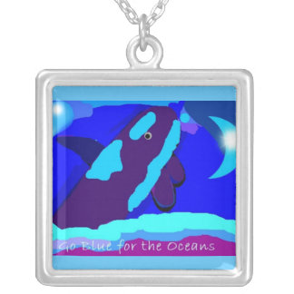 go blue with orcas for the ocean necklaces