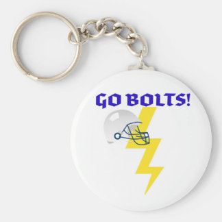 GO BOLTS! GRAPHIC PRINT KEYCHAIN