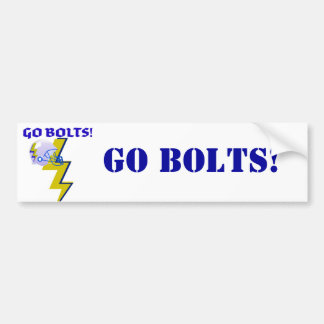 """GO BOLTS"" LIGHTNING BOLT FOOTBALL HELMET PRINT BUMPER STICKER"