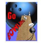 """Go Bowling 4.5"""" X 5.6"""" Flyer"""