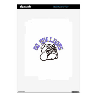 Go Bulldogs (with border) Decals For iPad 2